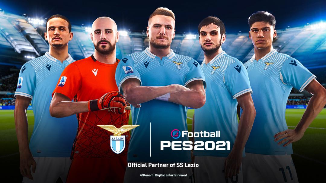 eFootball PES 2021 – Konami annuncia la partnership con la S.S Lazio